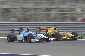Johnny Cecotto races with Felipe Nasr in Bahrain