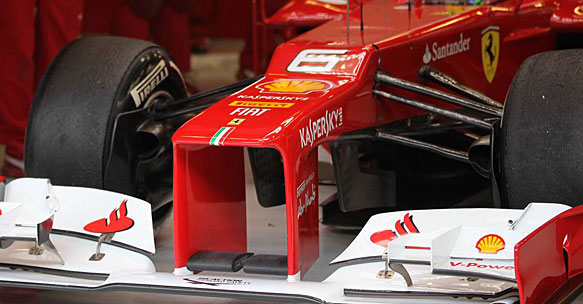 Ferrari turning vanes