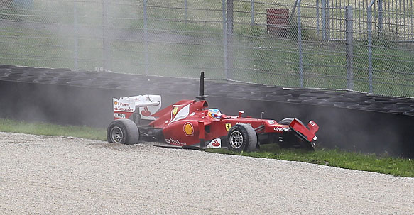 Alonso damage Mugello