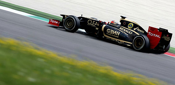 Romain Grosjean Lotus Mugello