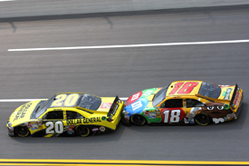 Joey Logano and Kyle Busch, Talladega 2012