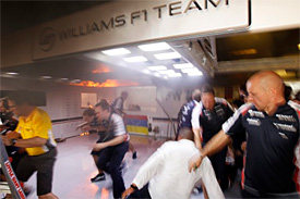 F1 personnel injured in Williams fire