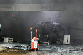 The fire destroyed Williams's garage