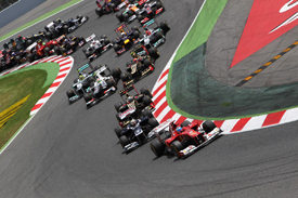 Spanish Grand Prix start 2012