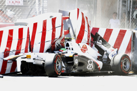Sergio Perez, Monaco crash 2011