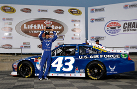 Aric Almirola takes pole