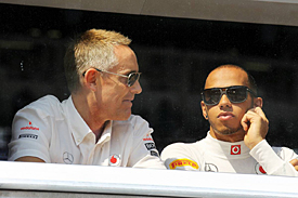 Lewis Hamilton and Martin Whitmarsh, McLaren, Monaco 2012