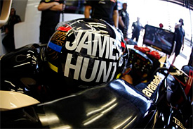 Kimi Raikkonen's helmet was a tribute to James Hunt