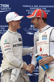 Jenson Button McLaren Michael Schumacher Mercedes 2012 Grand Prix