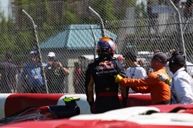 Jean-Eric Vergne crashes in Montreal practice