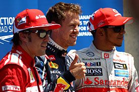 Vettel, Hamilton and Alonso F1 2012