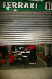 Giancarlo Fisichella's crashed AF Corse Ferrari