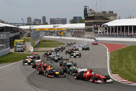 Canadian Grand Prix start 2012