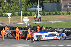 Anthony Davidson was seriously injured after a collision with a GTE Am backmarker