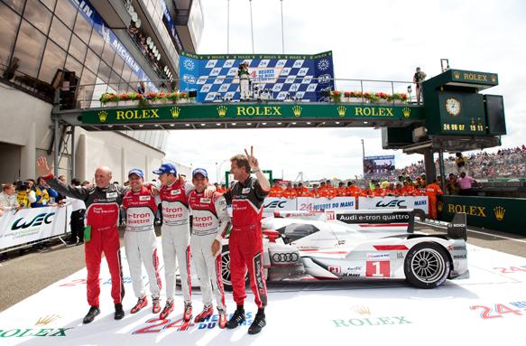 Andre Lotterer Marcel Fassler Benoit Treluyer Audi Le Mans WEC 2012