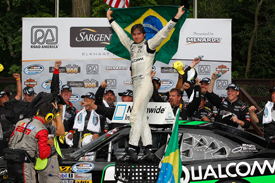 Nelson Piquet wins Road America NASCAR Nationwide race