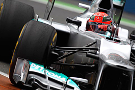Michael Schumacher, Mercedes, Valencia, 2012