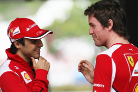 Felipe Massa and Rob Smedley