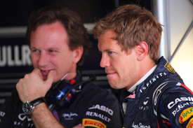 Sebastian Vettel and Christian Horner