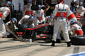 McLaren pitstop