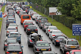 2012 British GP traffic