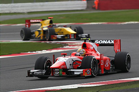 Luiz Razia leads at Silverstone