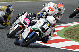 Remano Fenati won in his second Moto3 outing