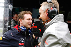 Christian Horner and Martin Whitmarsh, Silverstone, 2012