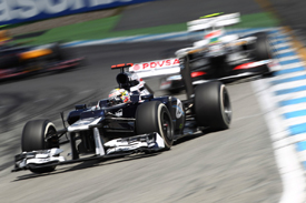 Pastor Maldonado, Williams, Hockenheim 2012