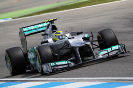 Nico Rosberg, Mercedes, Hockenheim 2012