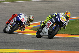 Lorenzo and Rossi during the 2010 season