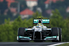 Nico Rosberg Mercedes Hungary 2012
