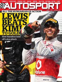 Autosport magazine cover 020812