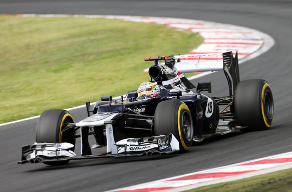 Pastor Maldonado Williams 2012 Hungarian Grand Prix
