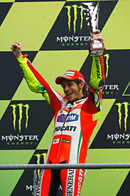 Rossi has been on the podium just twice with Ducati