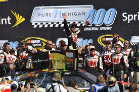 Greg Biffle wins at Michigan