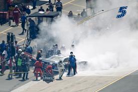 Mark Martin crashes at Michigan