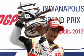 Dani Pedrosa wins at Indianapolis