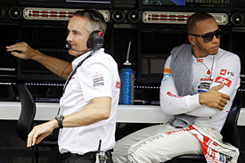 Martin Whitmarsh and Lewis Hamilton, McLaren, 2012