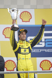 Felipe Nasr on the Spa podium