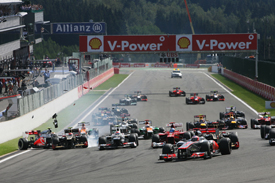 Jenson Button leads Spa start