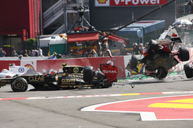 Spa start crash 2012
