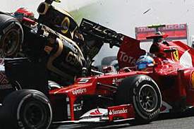 Start crash, Spa, 2012