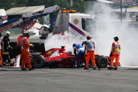 Fernando Alonso, Spa start crash 2012
