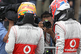 Jenson Button and Lewis Hamilton, McLaren, 2012