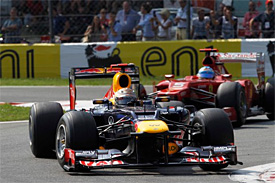 Alonso's car damaged in Vettel clash