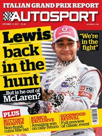 AUTOSPORT magazine cover 130912