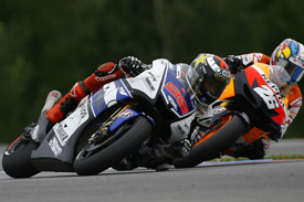 Jorge Lorenzo and Dani Pedrosa battle at Brno, 2012