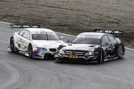 Martin Tomczyk and Gary Paffett collide at Zandvoort