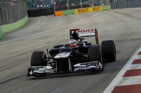 Pastor Maldonado Williams 2012 Singapore GP